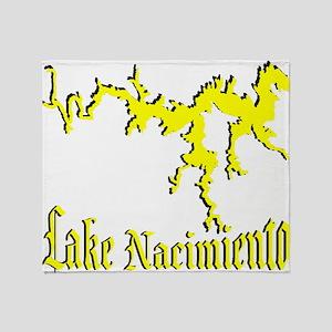 LAKE NACIMIENTO [4 yellow] Throw Blanket